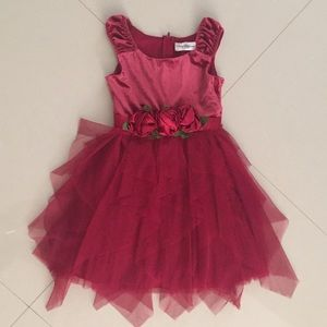 Rare Editions Girl Layer Tulle Party Dress